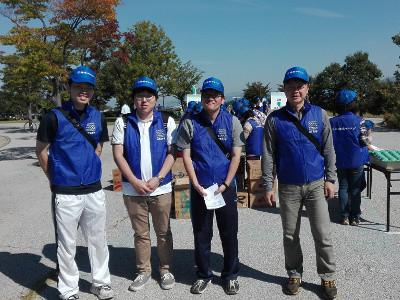 松本マラソンボランティア活動1